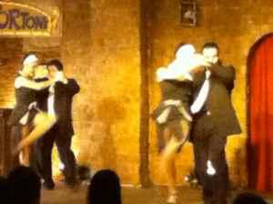 A tango show at Cafe Tortoni