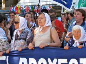 Mothers of Los Desaparecidos, who march each Thursday at the Plaza de Mayo