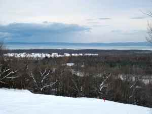 """From """"the orchard"""" where we went snowshoeing"""