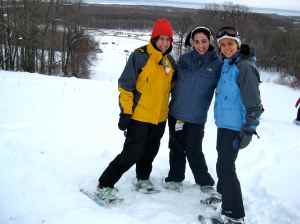Friends on snowshoes!