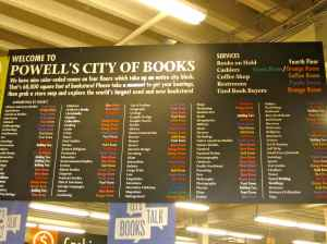 A city who touts a gigantic bookstore as one of it's main attractions? Sold. Powell's City of Books.