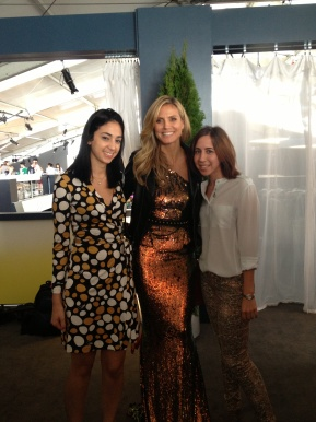 We got to meet Heidi Klum pre-show. She was super friendly!
